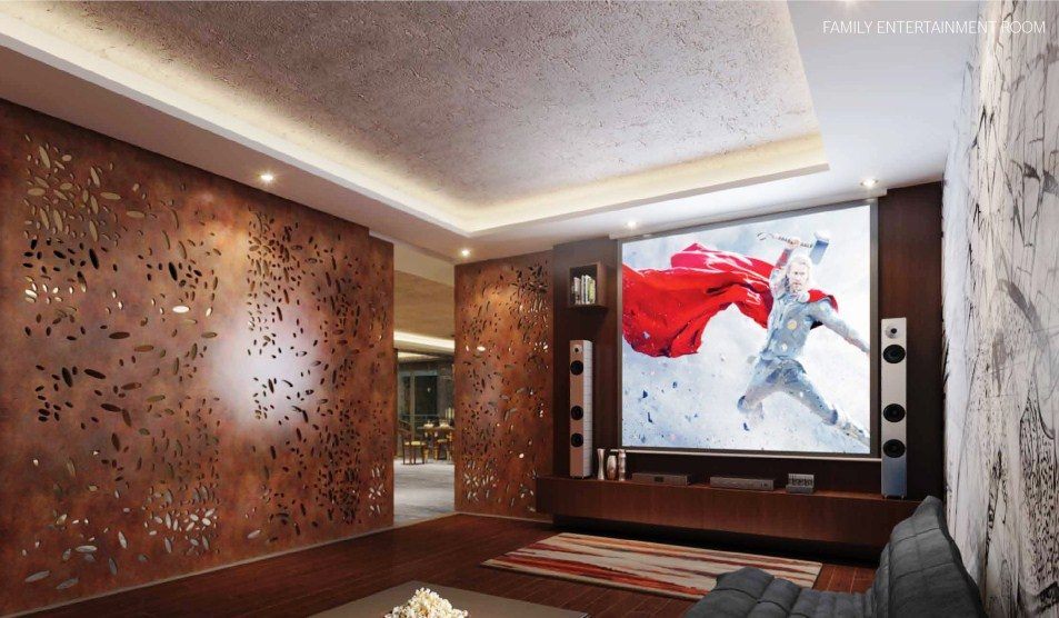 Phoenix Kessaku Super Luxury Apartment Rajajinagar Bangalore - home theatre